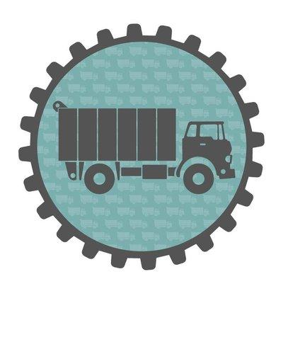 Muursticker vrachtwagen