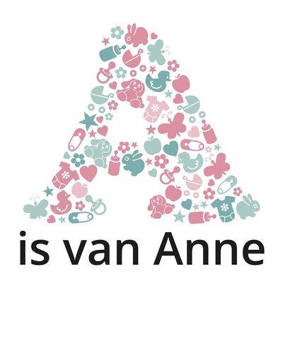 Muursticker icoontjes roze met naam
