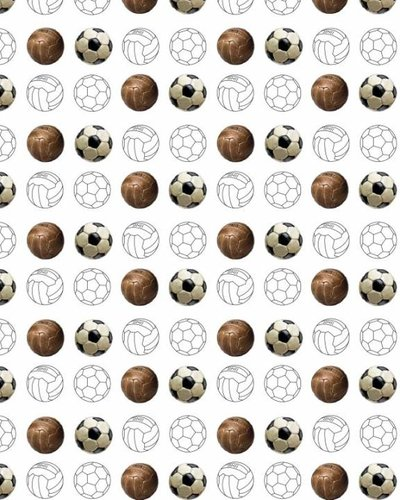 Behang voetbal wit