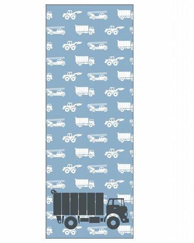 Behangpaneel auto's met vrachtwagen blauw
