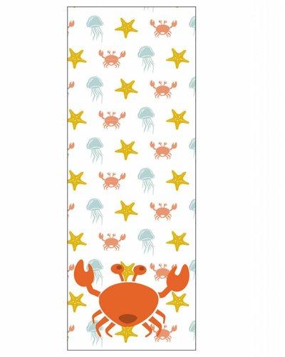 Behang paneel zeedieren met krab oranje geel