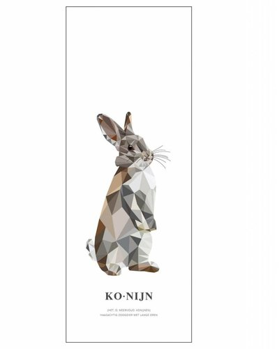 Behangpaneel konijn