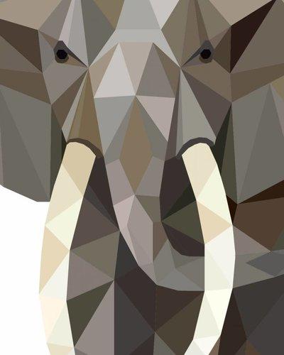 Behangpaneel olifant