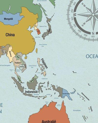Behang wereldkaart