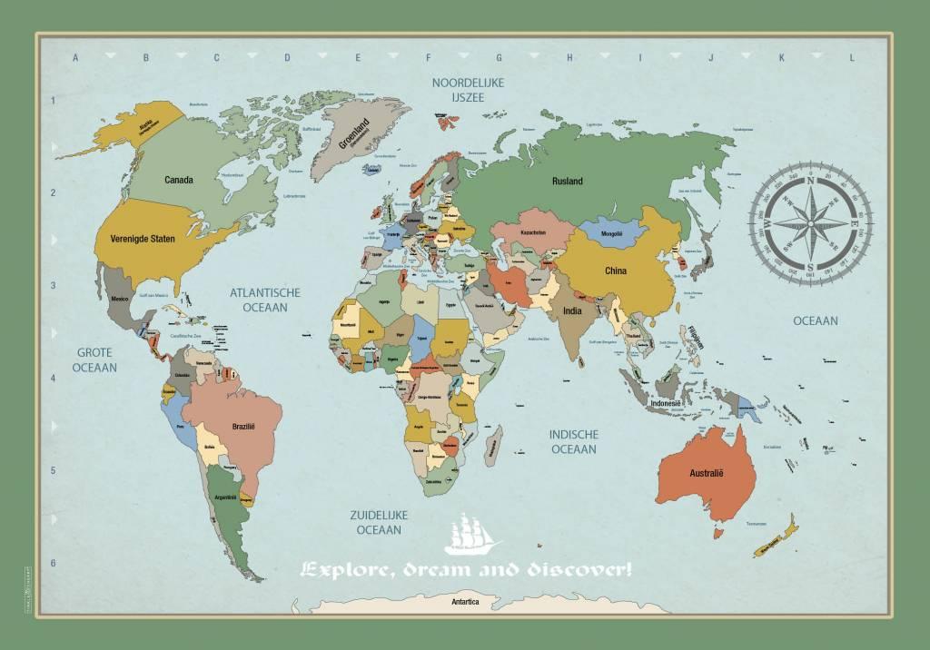 Poster wereldkaart tinklecherry poster wereldkaart poster wereldkaart thecheapjerseys Images