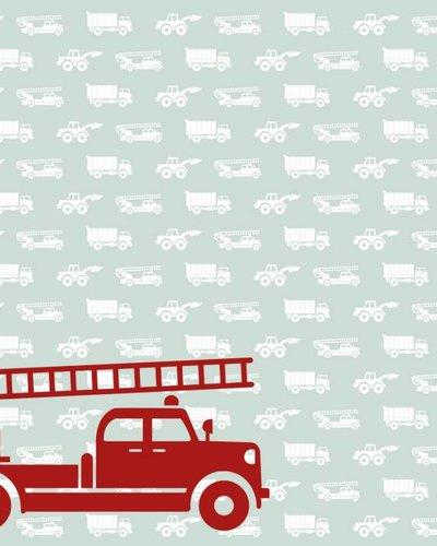 Behang auto's met brandweer groen