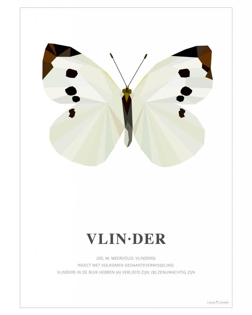 Poster interieur vlinder - Tinkle&Cherry