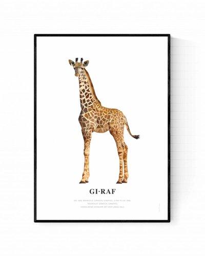 Poster giraf