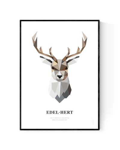 Poster edelhert