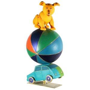 Hond op bol op auto