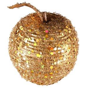 appel met pailletten goud ca 8cm