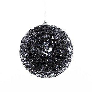 bal paillet ca. 15cm rond zwart