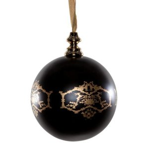 Marcel Wanders 6x kerstbal klein zwart