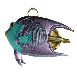 vis klein paars groen