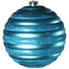 bal ca. 10cm horizontaal streep licht blauw