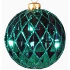 kerstbal ca 10cm ruit groen