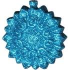 bloemornamt glitter lichtblauw