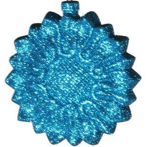 bloemornam glitter lichtblauw