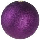 basis bal ca 10cm glitter paars