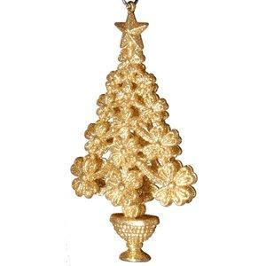 boom met bloemetjes glitter goud