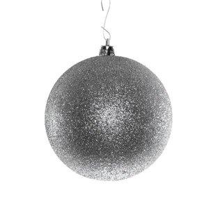basis kerstbal ca. Ø10cm zilver glitter