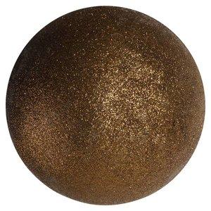 basis kerstbal ca. Ø10cm bruin glitter