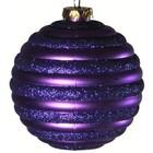 kerstbal horizontaal ca Ø15cm paars