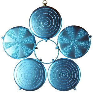 bloem in 5 delen turquoise