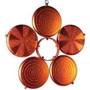bloem oranje in 5 delen ca 40cm