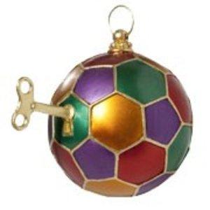 kerstbal kleur met sleutel ca 10cm