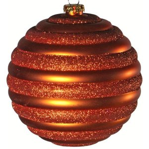 kerstbal horizontaal ca 15cm oranje