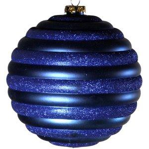 kerstbal horizontaal ca 15cm donkerblauw