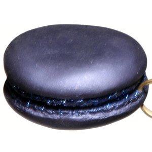 macaron ca. 8cm rond donkerblauw