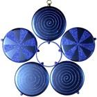 bloem in 5 delen donkerblauw