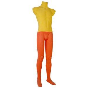 paspop man oranje geel