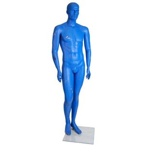 paspop man blauw