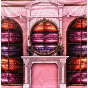 doek haard macarons roze 225 x 225cm