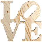 love ca. 40 x 40cm vurenhout
