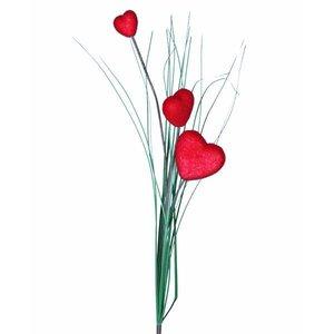 bloem met 3 harten 70cm