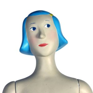 figuur fantasie kind meisje blauw haar ca. 170cm
