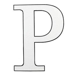 wit karton letter P