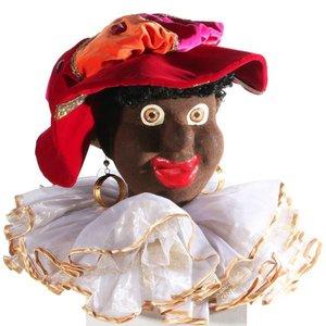 zwarte Piet kop compleet