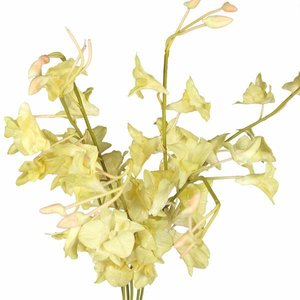 Kunststof bloem in crème tinten