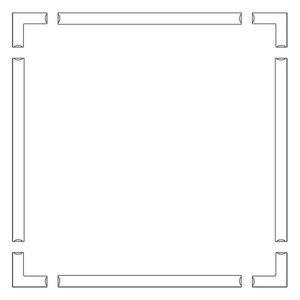 Frame tbv doek 350 x 250cm