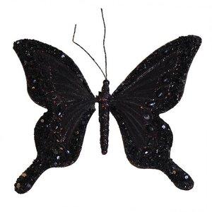 Vlinder Viktor & Rolf zwart groot per 2