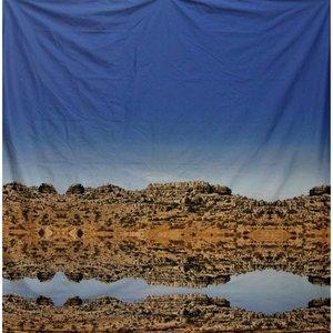 Doek rots spiegeling ca 225 x 225cm