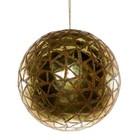 kerstbal ca 15cm goud met driehoek decor