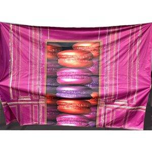 Doek deuropening macarons ca 350 x 250cm roze