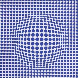 Doek blauwe stippen ca 225 x 225cm