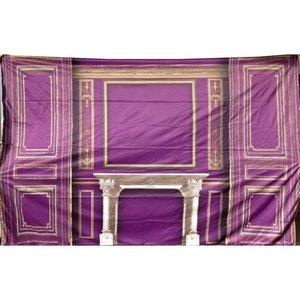 Doek paneelwand ca 350 x 250cm paars